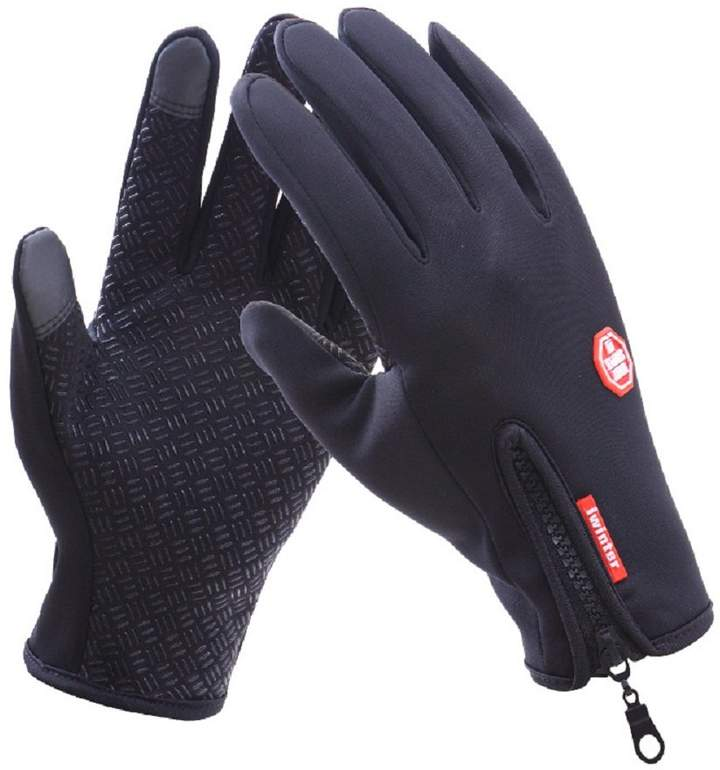 iwinter Unisex Touch Screen Windproof Waterproof Outdoor Sports Winter Cycling Gloves (M, )
