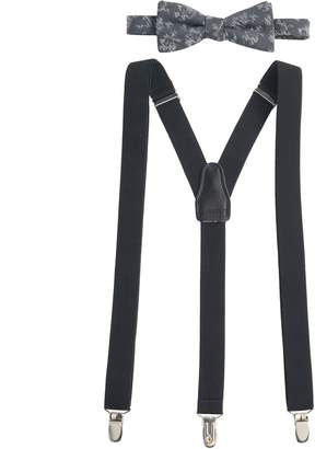Apt. 9 Men's Tonal-Striped Pre-Tied Bow Tie & Suspenders Set