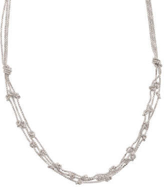 Made In Italy Sterling Silver Knotted Chain Necklace