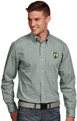 Antigua Men's Boston Celtics Associate Plaid Button-Down Shirt