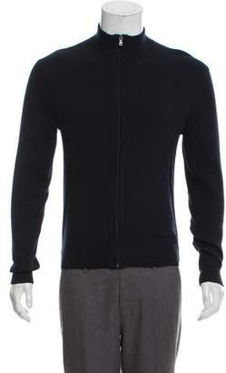 Michael Kors Rib Knit Zip-Up Cardigan