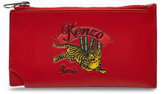 Kenzo Zipped Leather Cardholder