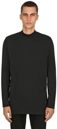 Diesel Black Gold High Collar Jersey Long Sleeve T-Shirt