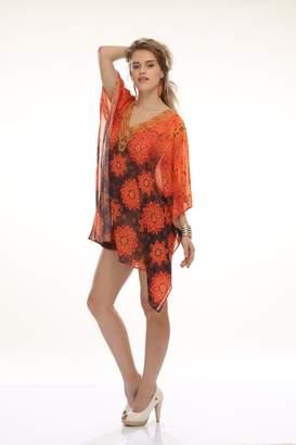 Dolce & Gabbana D G PRINTS FAB Women's Turkish Kaftan Beachwear Swimwear Bikini Cover ups Beach DressDG30