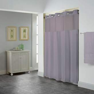 Generic Hookless Purple Shiny Herringbone Polyester Shower Curtain