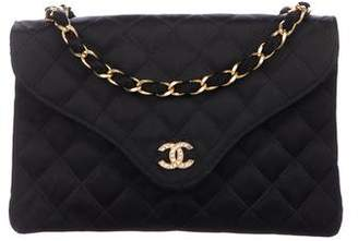 9b43effc9c90 Chanel Satin Quilted Flap Bag