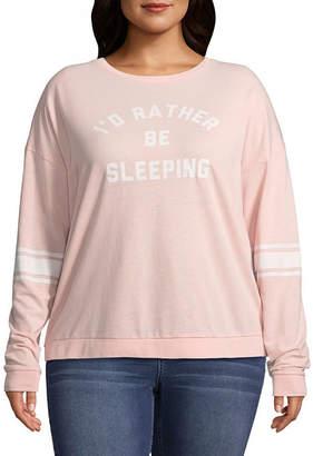 Fifth Sun I'd Rather Be Sleeping Sweatshirt - Juniors Plu