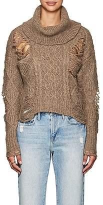 NSF Women's Odelia Distressed Wool-Blend Sweater