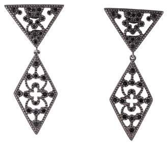 Christian Dior Filigree Crystal Drop Clip-On Earrings