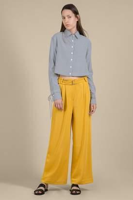 Genuine People Yellow Wide Leg Belted Pants