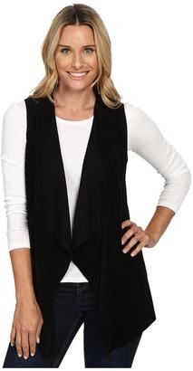Calvin Klein Vest w/ Suede Drape $109.50 thestylecure.com