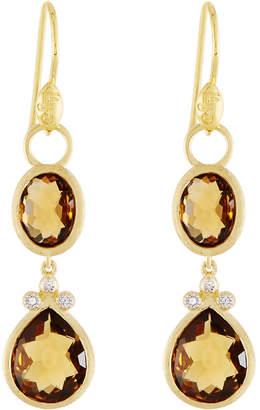 Jude Frances Double Drop Simple Pave Earring Charms
