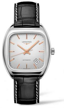Longines Heritage 1969 Automatic Leather Strap Watch, 36mm