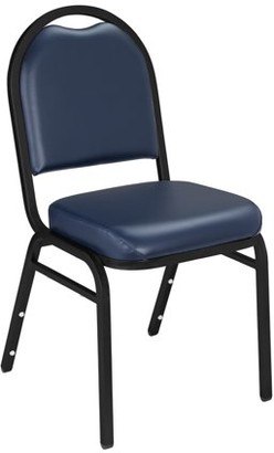 National Public Seating NPS 9200 Series Premium Vinyl Upholstered Stack Chair, Midnight Blue