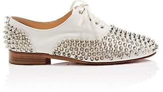 Christian Louboutin Women's Donna Leather Oxfords - Latte, Silver