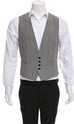 Dries Van Noten Glen Plaid Suit Vest w/ Tags