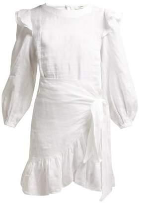 Etoile Isabel Marant Telicia Ruffle Trim Linen Dress - Womens - White