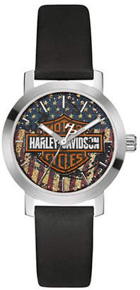Harley-Davidson The Decal Stainless Steel Analog Watch