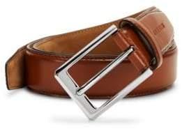 Cole Haan Embossed Logo Leather Belt