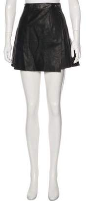 Chrome Hearts Silver-Accented Leather Skirt