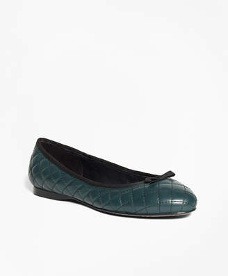 Brooks Brothers Quilted Leather Flats
