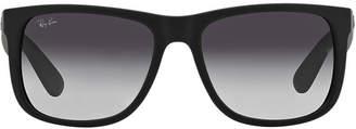 Ray-Ban Rb4165 54 Justin Black Rectangle Sunglasses