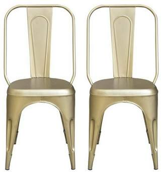 Treasure Trove Accents Industrial Style Accent Chair Champagne Gold - Treasure Trove