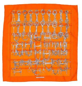 Hermes Mors et Filets Silk Pocket Square