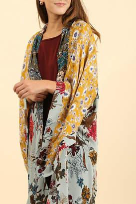 Umgee USA Floral Sage Kimono