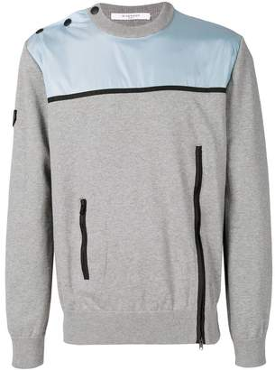 Givenchy zip-detailed panelled sweatshirt