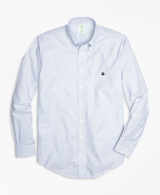 Brooks Brothers Non-Iron Milano Fit Oxford Stripe Sport Shirt