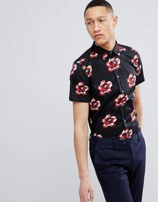 Ted Baker Slim Short Sleeve Floral Shirt