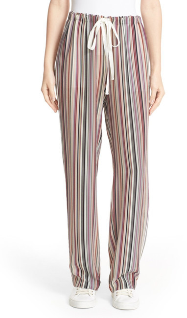Theory Theory Winszlee Stripe Silk Pants