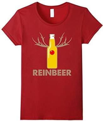 Reinbeer Funny Christmas Beer Drinking T-Shirt