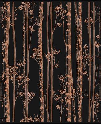Graham & Brown Linden Black Copper Wallpaper