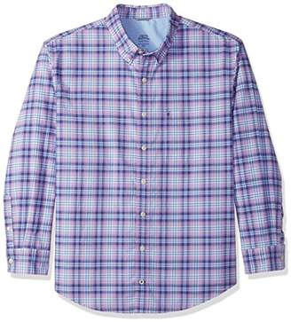 Izod Men's Big and Tall Long Sleeve Oxford Plaid Shirt