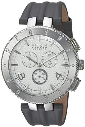 Versus By Versace Men's 'Logo Gent Chrono' Quartz Stainless Steel and Leather Casual Watch