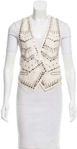3.1 Phillip Lim 3.1 Phillip Lim Wool-Blend Embellished Vest