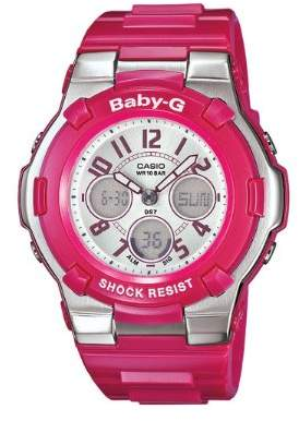 Casio Women's BGA110-4B Baby-G Shock Resistant Pink Multi-Function Sport Watch