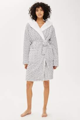 Topshop TALL Rose Fur Robe