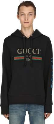 Gucci Vintage Logo Cotton Sweatshirt Hooded