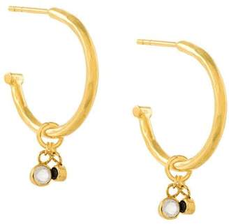 Maya Magal hanging charm hoop earrings