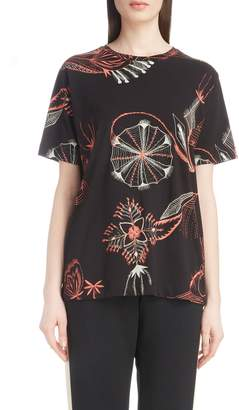 Dries Van Noten Floral Print Cotton Tee