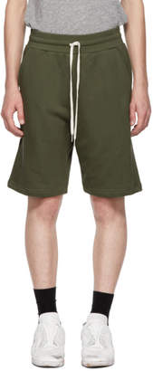 John Elliott Green Sweat Shorts