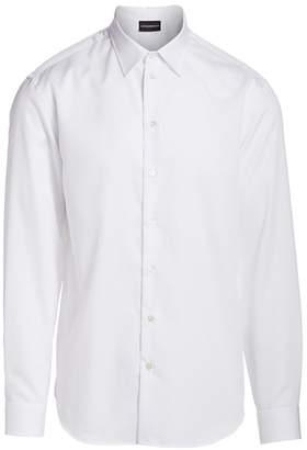 Emporio Armani Geometric Jacquard Sport Shirt