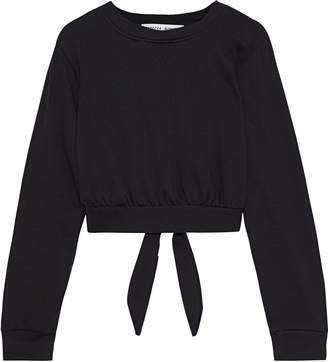 Rebecca Minkoff Molly Tie-back French Cotton-blend Terry Sweatshirt