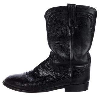 Lucchese Ostrich Cowboy Boots