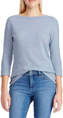 Chaps Waffle Knit Boat Neck Top