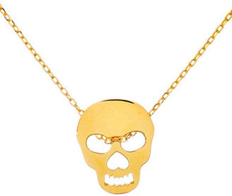 Lord & Taylor Sterling Silver and 18K Gold Skull Pendant Necklace $70 thestylecure.com