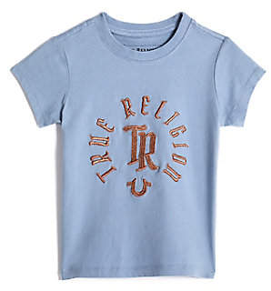 True Religion TODDLER/BIG KIDS GIRLS EMBROIDERED LOGO TEE